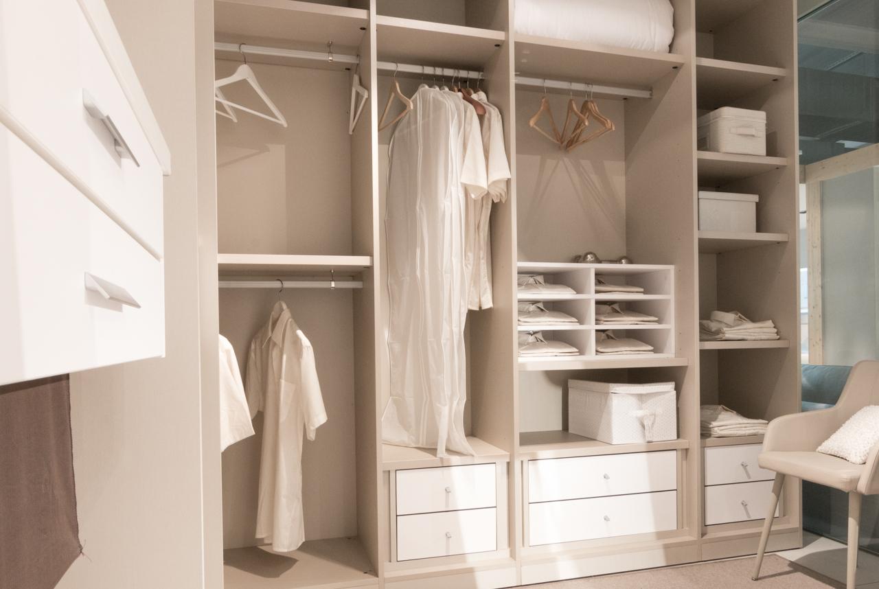 armarios abiertos aprovechar espacio
