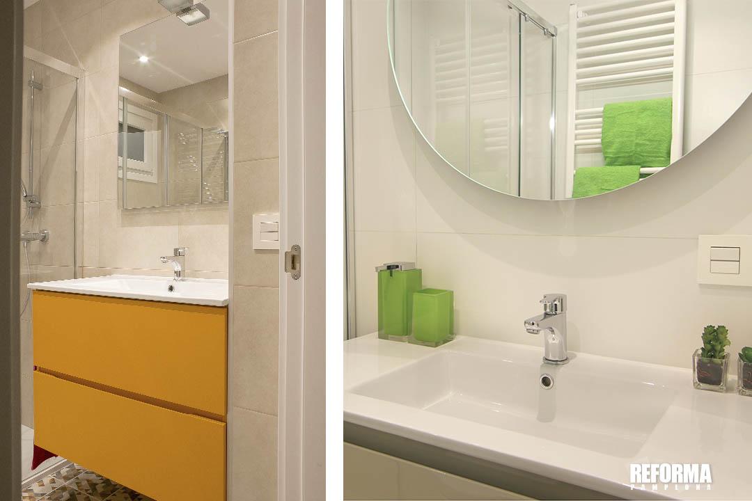 colores saturados cuarto de baño